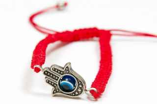 Hamsa hand good luck charm