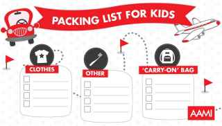 Travel packing list for kids
